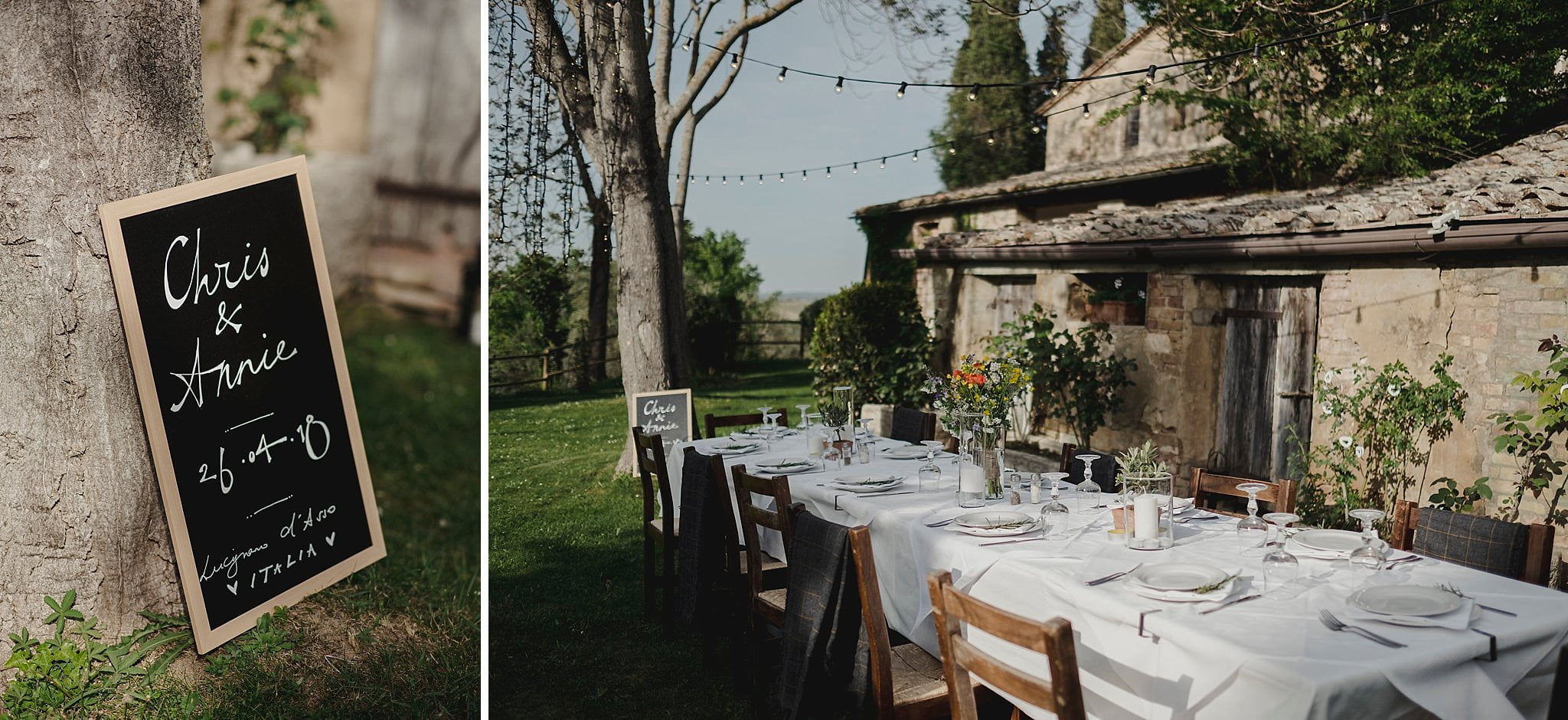 Intimate wedding in tuscany